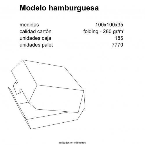 caja hamburguesa